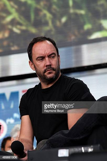 Singer Dave Matthews from The Dave Matthews Band attends the press conference at FirstMerit Bank Pavilion at Northerly Island during 'Farm Aid 30' on...