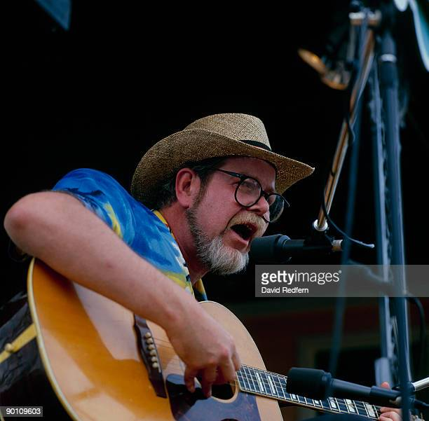 Singer Dave Van Ronk performs on stage at the New Orleans Jazz and Heritage Festival in New Orleans, Louisiana on May 05,1985.