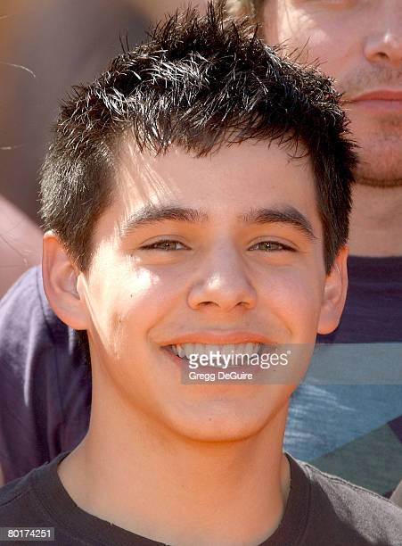 "Singer David Archuleta, 2008 American Idol Top 12 Finalist, arrives at ""Dr. Seuss' Horton Hears A Who"" premiere at The Mann Village on March 8, 2008..."