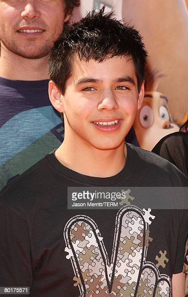 Singer David Archuleta 2008 American Idol Top 12 Finalist arrives at Dr Seuss' Horton Hears A Who premiere at The Mann Village on March 8 2008 in...