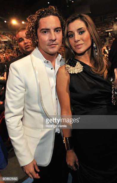 Singer David Bisbal and Elena Tablada attend the 10th Annual Latin GRAMMY Awards held at the Mandalay Bay Events Center on November 5 2009 in Las...