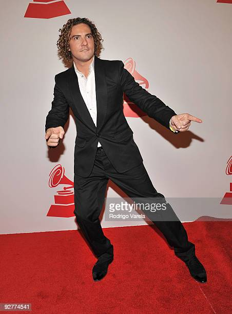 Singer David Bisbal attends 2009 Person Of The Year Honoring Juan Gabriel at Mandalay Bay Events Center on November 4 2009 in Las Vegas Nevada