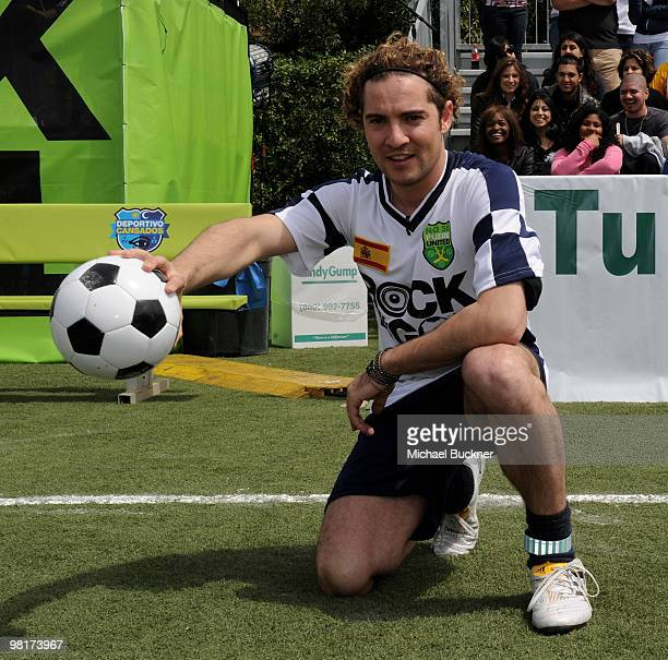 """Singer David Bisbal attends MTV Tr3s's """"Rock N' Gol"""" World Cup Kick-Off at the Home Depot Center on March 31, 2010 in Carson, California."""