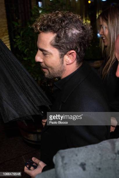 Singer David Bisbal attends the 'Arde Madrid' party at Florida Park on November 29 2018 in Madrid Spain
