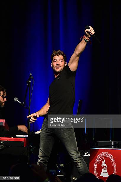 Singer David Bisbal performs at Broad Street Ballroom on October 23 2014 in New York City