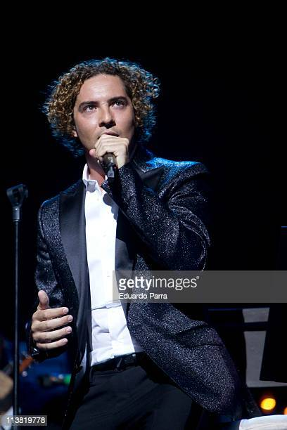 Singer David Bisbal performs classic tunes in their acoustic tour at Coliseum theatre on May 6 2011 in Madrid Spain