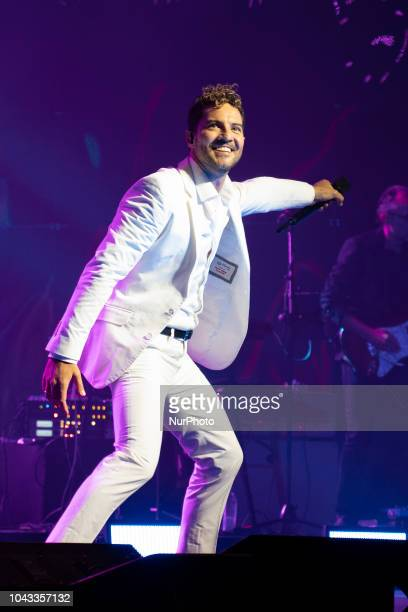 Singer David Bisbal performs during a concert at the Teatro Real in Madrid Spain 29 September 2018