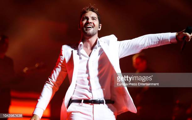 Singer David Bisbal performs during a concert at the Teatro Real on September 29 2018 in Madrid Spain