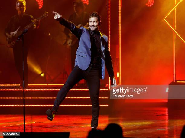 Singer David Bisbal performs in concert at Royal Theatre on July 26 2017 in Madrid Spain