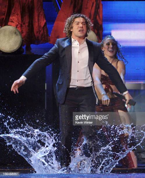 Singer David Bisbal performs onstage during the 13th annual Latin GRAMMY Awards held at the Mandalay Bay Events Center on November 15 2012 in Las...