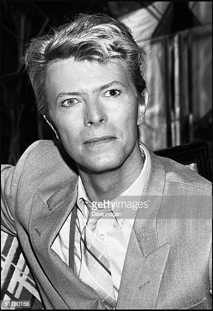 Singer David Bowie attends a press conference at the Savoy Hotel in 1983 London