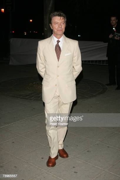 Singer David Bowie attends the Vanity Fair 2007 Tribeca Film Festival Party at the Courthouse on April 24 2007 in New York City
