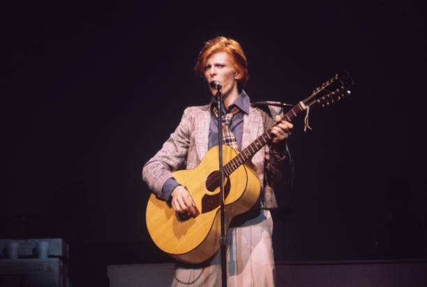David Bowie On Stage In New York Wall Art