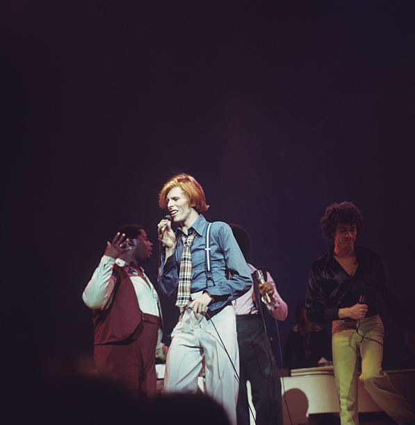 David Bowie On Stage In New York