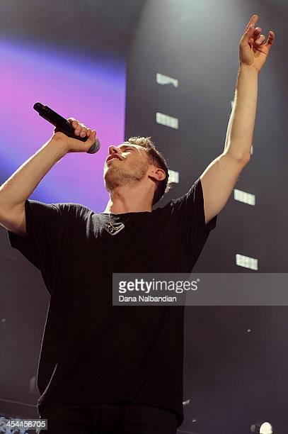 Singer David Boyd of New Politics performs at KISS Jingle Ball at Comcast Arena at Everett on December 8 2013 in Everett Washington