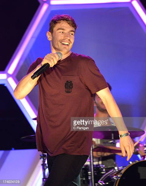 Singer David Boyd of New Politics performs during MTV2's Party in the Park at PETCO Park on July 18 2013 in San Diego California