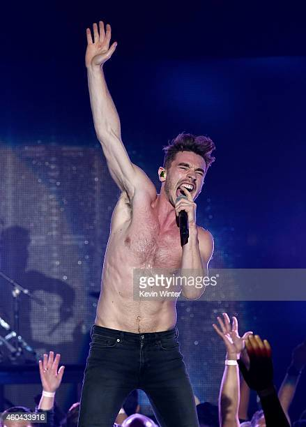 Singer David Boyd of New Politics performs onstage during day one of the 25th annual KROQ Almost Acoustic Christmas at The Forum on December 13, 2014...