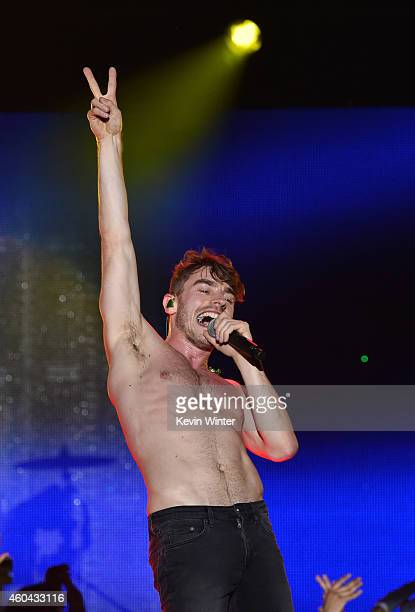 Singer David Boyd performs onstage during day one of the 25th annual KROQ Almost Acoustic Christmas at The Forum on December 13 2014 in Inglewood...