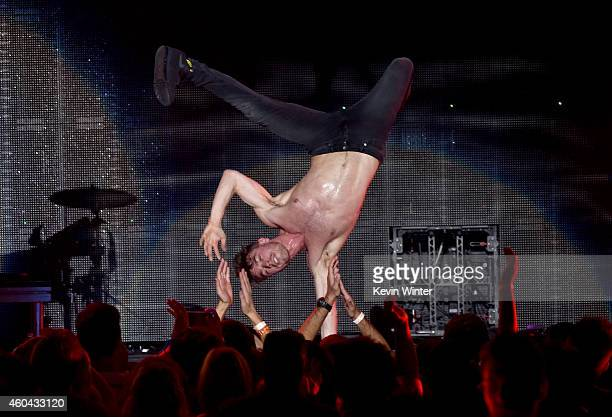 Singer David Boyd performs onstage during day one of the 25th annual KROQ Almost Acoustic Christmas at The Forum on December 13, 2014 in Inglewood,...