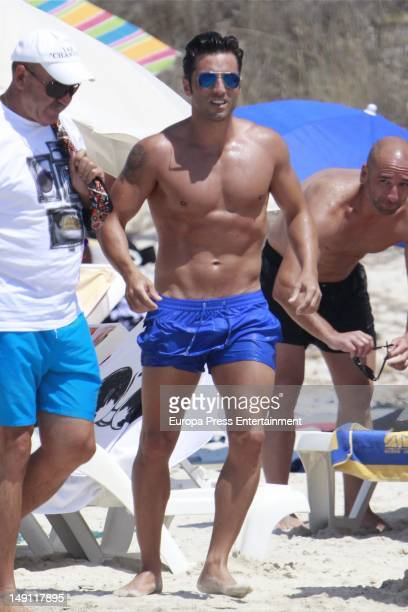 Singer David Bustamante is seen on the beach on July 22 2012 in Ibiza Spain
