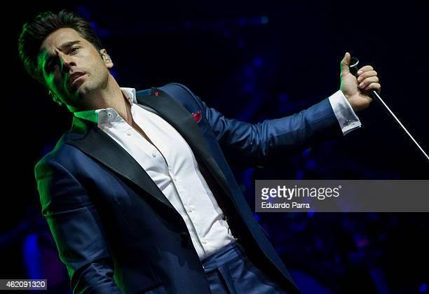 Singer David Bustamante perfoms at Price Circus on January 24 2015 in Madrid Spain