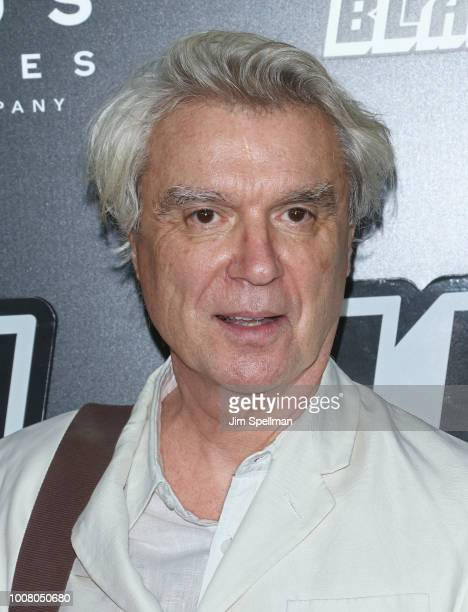 Singer David Byrne attends the 'BlacKkKlansman' New York premiere at Brooklyn Academy of Music on July 30 2018 in New York City