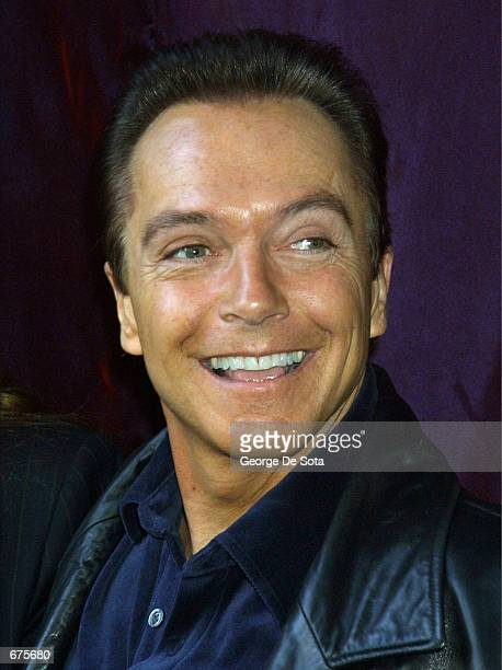 Singer David Cassidy attends an event to unveil the original Santa suit worn by Edmund Gwenn in the original film Miracle on 34th Street December 4...