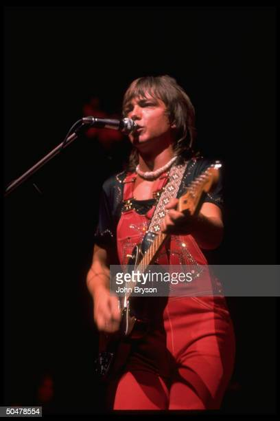 Singer David Cassidy performing in concert
