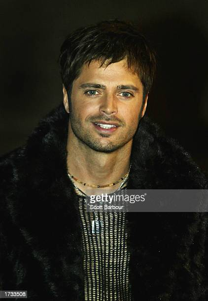 Singer David Charvet arrives for the 4th NRJ Music Awards 2003 at the Palais des Festivals January 18 2003 in Cannes France