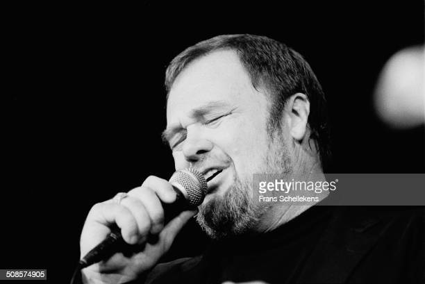 Singer David Clayton Thomas performs at Jazz Mecca on 30th October 1992 in Maastricht, Netherlands.