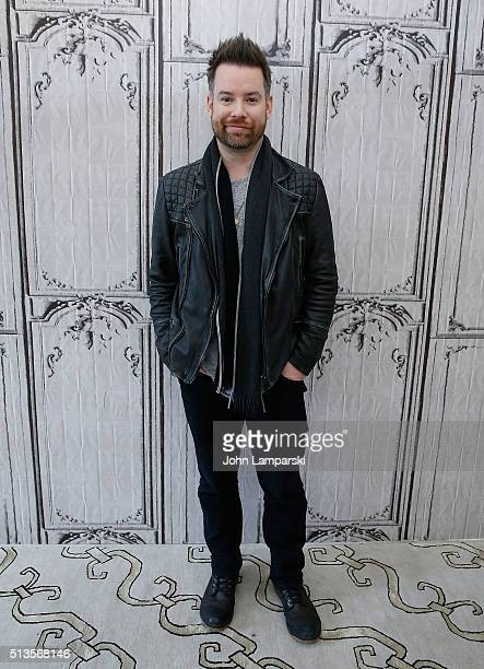 Singer David Cook attends the 'Digital Vein' during AOL Build Speaker Series at AOL Studios In New York on March 3 2016 in New York City