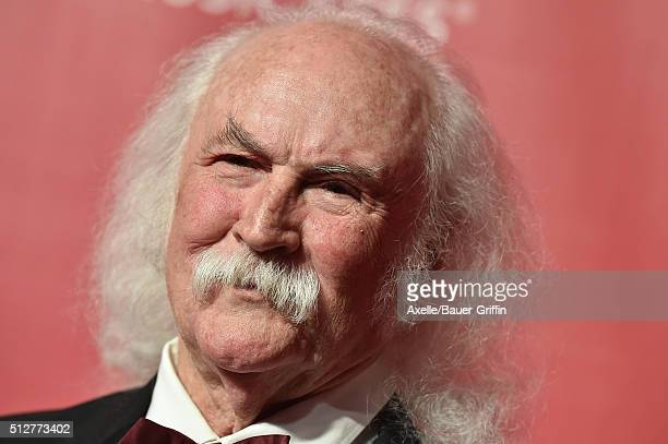 Singer David Crosby arrives at the 2016 MusiCares Person of the Year honoring Lionel Richie at Los Angeles Convention Center on February 13 2016 in...