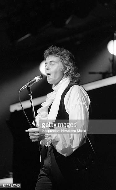 Singer David Essex in cencert at The National Stadium circa November 1984