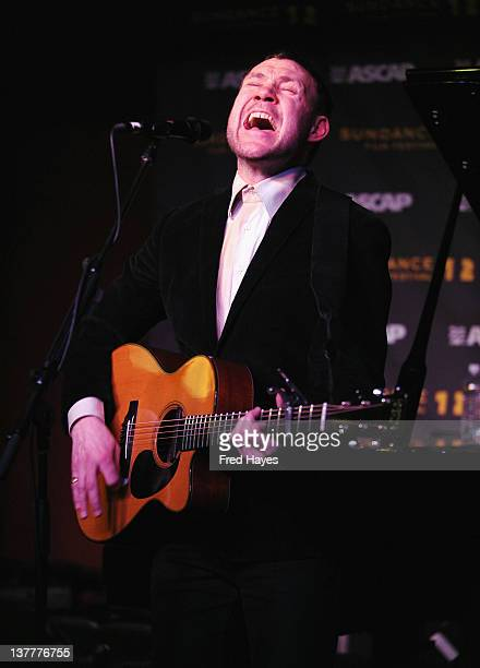 Singer David Gray performs at Music Cafe Day 7 during the 2012 Sundance Film Festival on January 26 2012 in Park City Utah