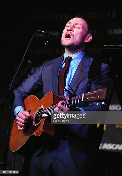 Singer David Gray performs at Music Cafe Day 8 during the 2012 Sundance Film Festival on January 27 2012 in Park City Utah