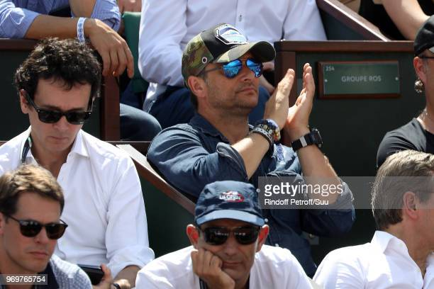 Singer David Hallyday attends the 2018 French Open Day Thirteen at Roland Garros on June 8 2018 in Paris France