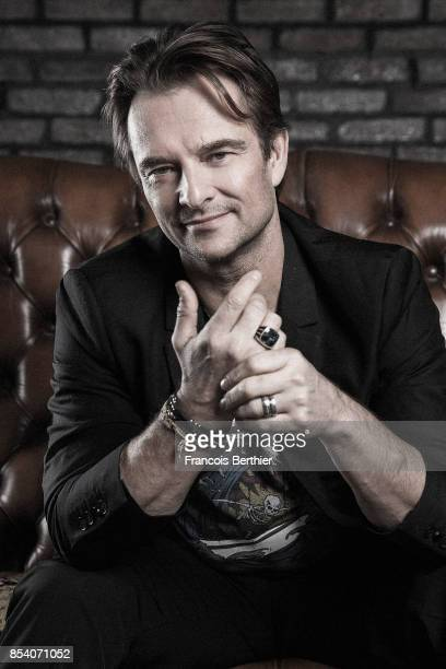 Singer David Hallyday is photographed for Self Assignment on February 10, 2017 in Paris, France.