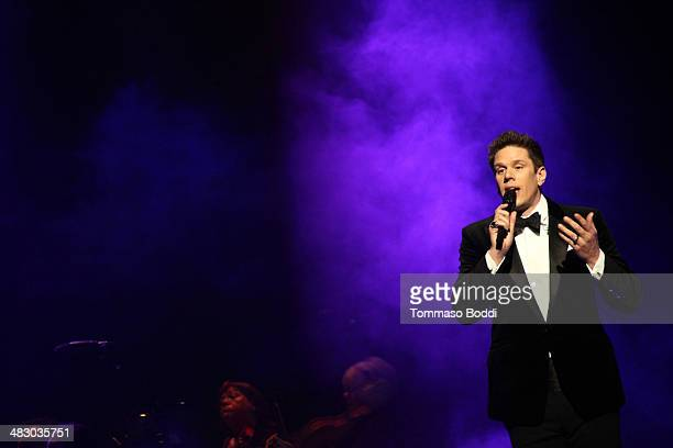 Singer David Miller of Il Divo performs at the Dolby Theatre on April 5, 2014 in Hollywood, California.