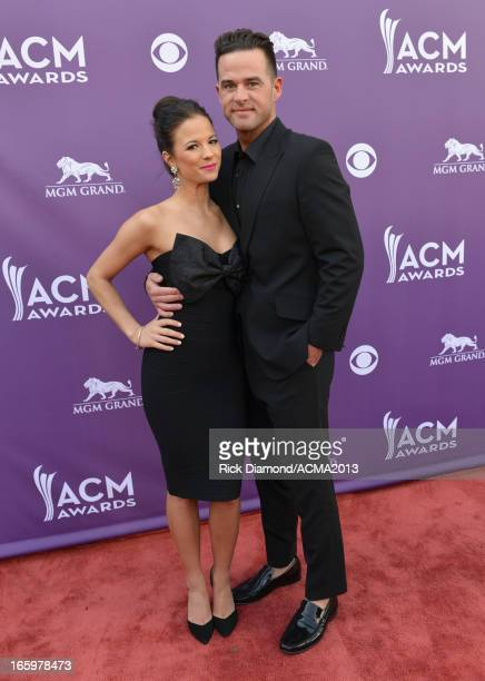 Singer David Nail and Catherine Werne attend the 48th Annual Academy of Country Music Awards at the MGM Grand Garden Arena on April 7 2013 in Las...