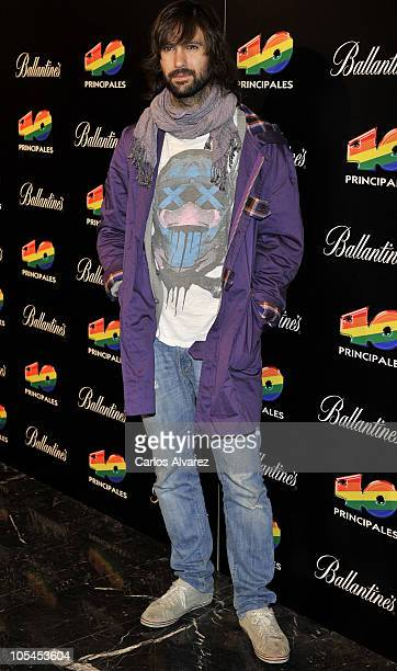 Singer David Otero attends 40 Principales Awards press conference at Casa de America on October 14 2010 in Madrid Spain