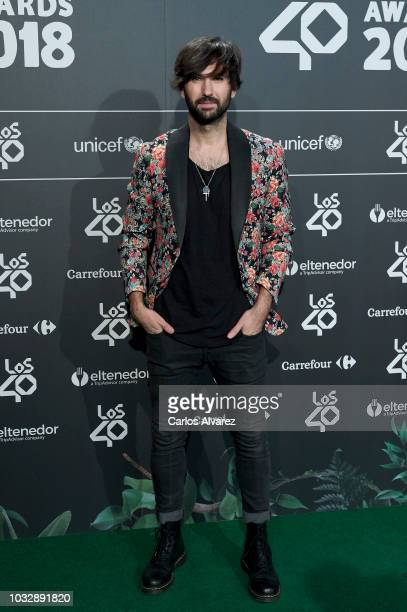 Singer David Otero attends the '40 Principales' awards nominated dinner at the Florida Park Club on September 13 2018 in Madrid Spain