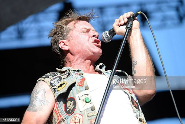 Singer David Roach of Junkyard performs onstage at the Cathouse Festival at Irvine Meadows Amphitheatre on August 15 2015 in Irvine California