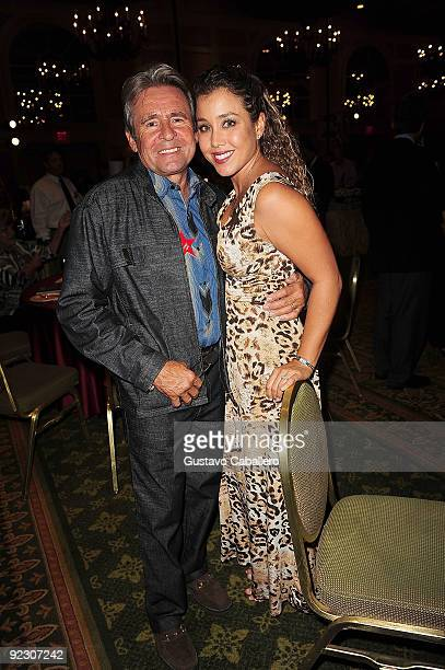 Singer Davy Jones and wife actress Jessica Pacheco attends 17th Annual Hollywood Welcomes The Stars event to benefit the the Marti Huizenga Boys...