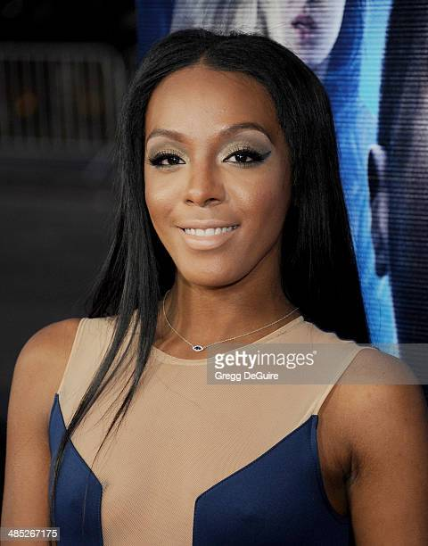 Singer Dawn Richard arrives at the Los Angeles premiere of 'A Haunted House 2' at Regal Cinemas LA Live on April 16 2014 in Los Angeles California