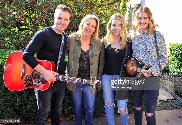 Singer Dawson Anderson of Temecula Road Live In The Vineyard Founder Bobbii HachJacobs Maddie Salute and Emma Salute of Temecula Road attend Day 4 of...