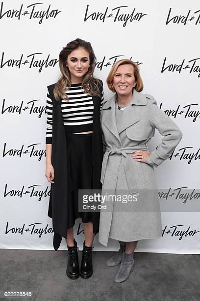 Singer Daya and President of Lord Taylor and Hudson's Bay Company Liz Rodbell attend the unveiling of the Lord Taylor NYC 2016 Holiday Windows with...