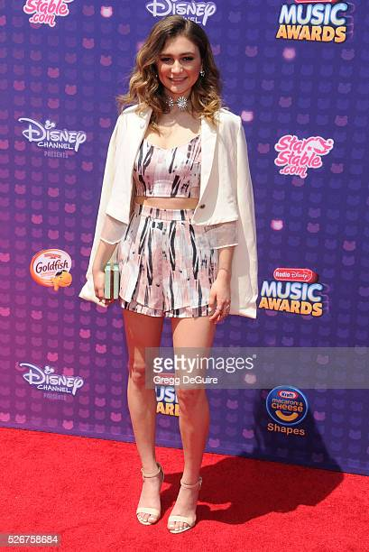 Singer Daya arrives at the 2016 Radio Disney Music Awards at Microsoft Theater on April 30, 2016 in Los Angeles, California.