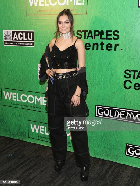 Singer Daya arrives at Zedd Presents WELCOME Fundraising Concert Benefiting The ACLU at Staples Center on April 3 2017 in Los Angeles California