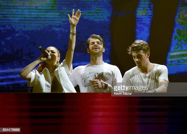 Singer Daya Drew Taggart and Alex Pall of The Chainsmokers perform onstage during the Spotify Best New Artist Nominees celebration at Belasco Theatre...