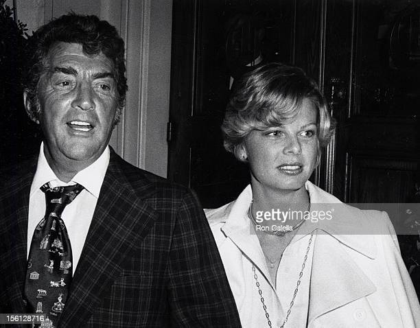 Singer Dean Martin and date Catherine Hawn attending 'PreParty for 46th Annual Academy Awards' on April 1 1974 at Chasen's Restaurant in Beverly...